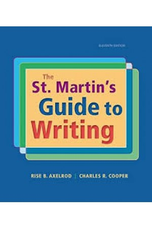 The St Martin's Guide to Writing 11th edition PDF Format